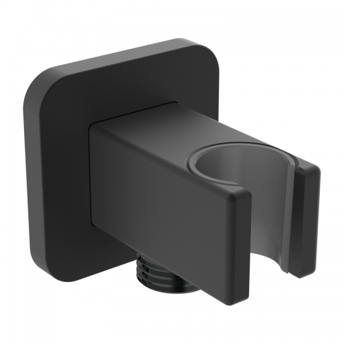 UNI QR Black Shower Connection Holder