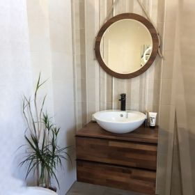Bathroom Mirror Woodstyle Noce Americano