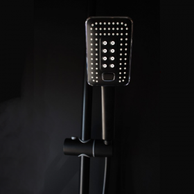 Vema Wellness Black Matt Thermostatic Shower System