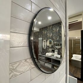 Pearl Round Framed Mirror