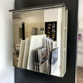 Ecru Mirrored Enlighten Cabinet