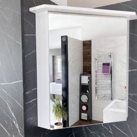 Brevi Corner Mirrored Enlighten Cabinet