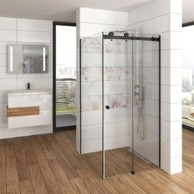 Multislide Classica Nero Glass Shower Enclosure Sliding Door