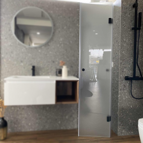 Armonia Duo Nero Glass Shower Enclosure