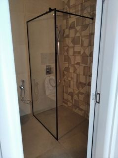 Testo Nero Shower Screen