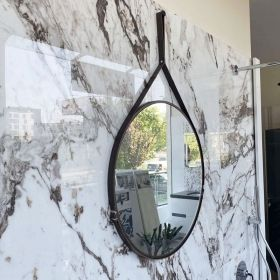 Serena Wood Mirror with Belt