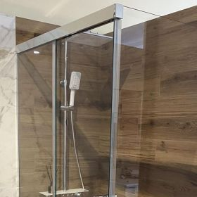LuxSlide Glass Shower Enclosure Sliding Door